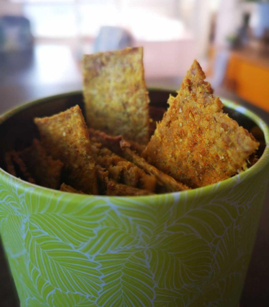 Prototypes plus récents de crackers aux drêches de brasserie (été 2020)