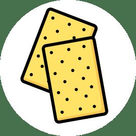 ouro biscuiterie circulaire en Touraine illustration Crackers upcyclés aux drêches de brasserie