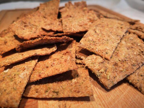 Crackers aux drêches de brasserie et herbes de Provence OURO Biscuiterie Circulaire de Touraine