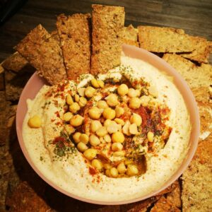 Crackers Drêches de Brasserie et Houmous