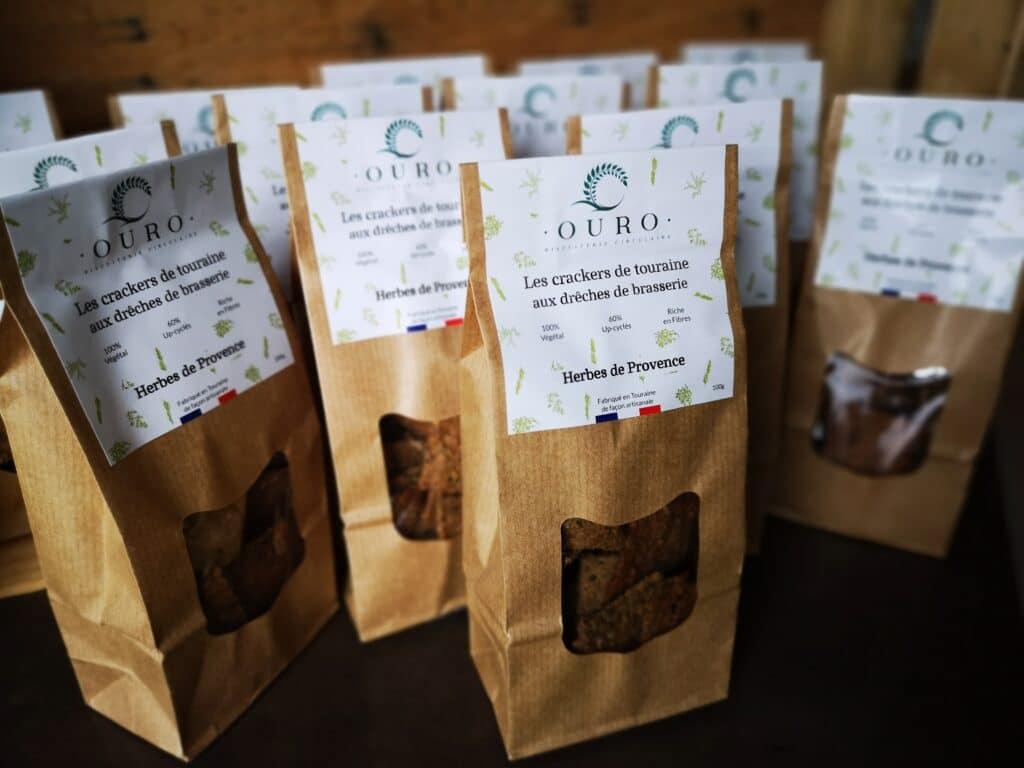 Crackers drêches de Brasserie herbes de Provence Biscuiterie OURO biscuiterie circulaire de Touraine 2