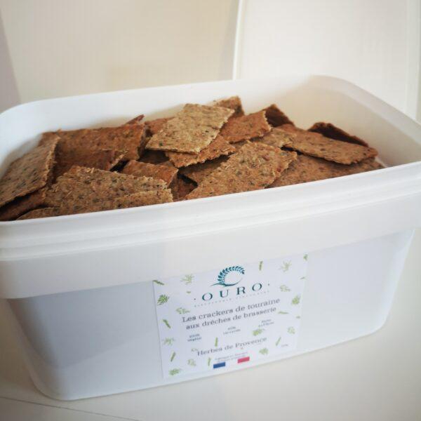 Boite crackers drêches de brasserie Herbes de Provence 750g